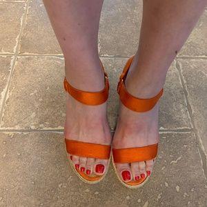 Ralph Lauren Orange Indigo Espadrilles in Elastic